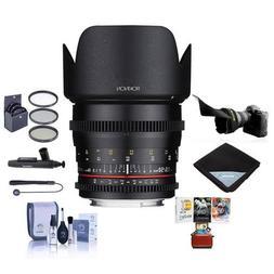 Rokinon 50mm T1.5 Cine DS Lens Sony E Mount - Bundle 77mm Fi