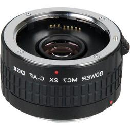 BOWER Tele Converter Lens Doubler 2X MC7 fo Canon EOS SL1 T6