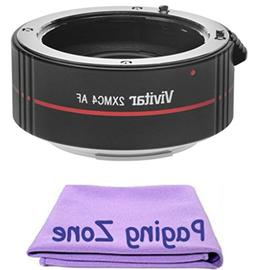2x Teleconverter  + PZ Cleaning Cloth for Canon EF 28-90mm f