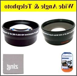 46mm 2X Telephoto Lens + 46mm 0.45x Wide Angle Lens with mar
