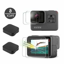 Tempered Glass Screen Protector Lens Cap Cover For GoPro Her