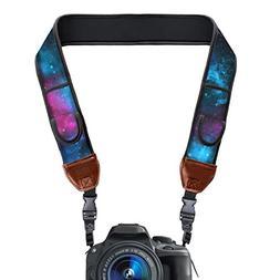 USA GEAR TrueSHOT Camera Strap with Galaxy Neoprene Pattern