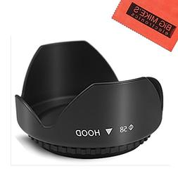 58mm Digital Tulip Flower Lens Hood for Canon Rebel T5, T6,