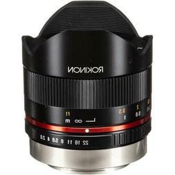 Rokinon 8mm F2.8 UMC Fisheye II  Lens for Fuji X Mount Digit