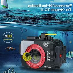 Sea frogs 195FT/60M Underwater Camera Waterproof Diving hous