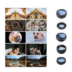 Universal 10 in1 Clip On Camera Lens Kit Fisheye+Wide Angle+