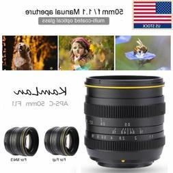 US Kamlan 50mm F/1.1 Manual Focus Lens Large Aperture f M4/3