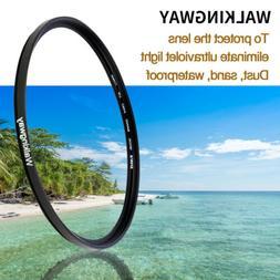 Walkingway UV Filter Camera Lens Protector for Canon 52/55/5