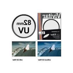 Vivitar UV82 82mm 1-Piece Camera Lens Filter Sets