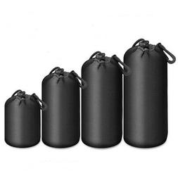 Waterproof Drapstring Bag for Camera Lens Padded Pouch Prote
