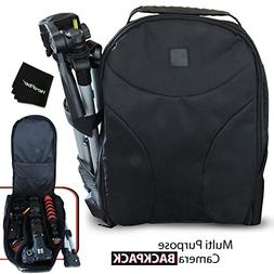 Well Padded Camera Backpack with Water Resistant Outer Mater