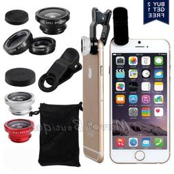 Wide Angle 180° Fish Eye Macro Clip Camera Lens Kit for iPh