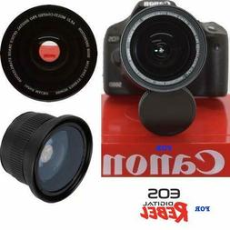 58MM WIDE ANGLE + MACRO LENS FOR Canon Rebel EOS T2 T2I XI T