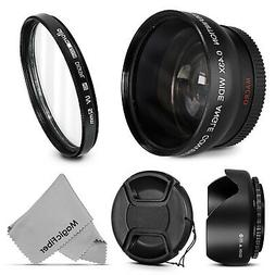52MM Wide Angle Macro Lens + UV Filter for Nikon D5200 D5100