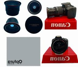 WIDE ANGLE + MACRO LENS FOR Canon Rebel EOS XTI 1200D T3 T3I