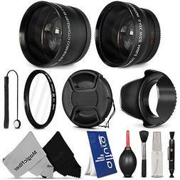 52MM Wide Angle & Telephoto Lens + Accessories for Nikon D53