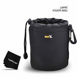 Xtech Small Soft Neoprene Lens Pouch for Canon, Nikon, Fuji,