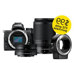 Nikon Z50 Mirrorless Digital Camera with 16-50mm & 50-250mm